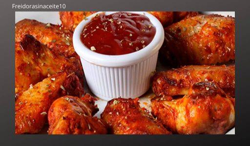 alitas de pollo sin aceite